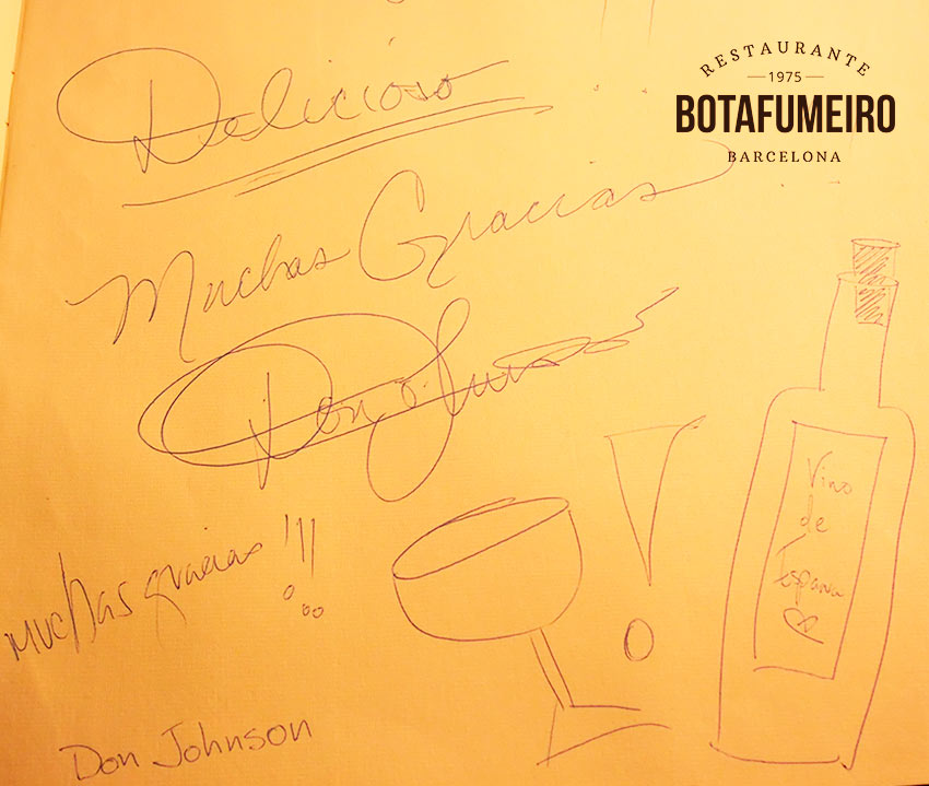 Botafumeiro Guestbook · Don Johnson